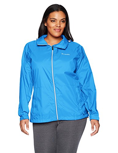 Columbia Women's Plus Size Switchback III Adjustable Waterproof Rain Jacket, Harbor Blue, 2X