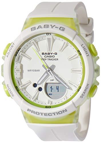 Casio Baby G White Dial Polyurethane Strap Ladies Watch BGS-100-7A2