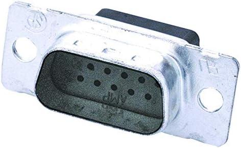 AMPLIMITE 90 Series 1757823-7 Crimp DE Plug D Sub Connector 15 Contacts 1757823-7 Pack of 2 HD15 Steel Body