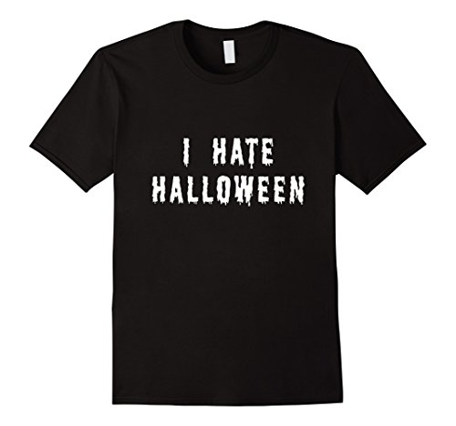 Mens I Hate Halloween T Shirt Funny Halloween Slogan Large (Hates Halloween)