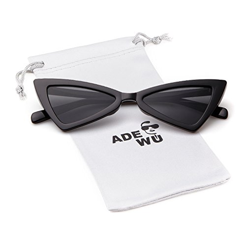 Cat eye Sunglasses for Women Men High Pointed Triangle ()