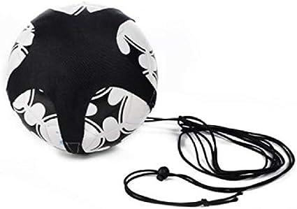 Nologo G.Y.Xuan Enfants Football Formation /Équipement auxiliaire Kickball Pull-Back Bande Fournitures de jonglage Couleur : Black