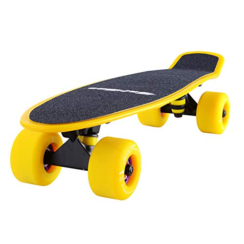 Vortex Skateboard Wheels - Scooters Penny Kids Skateboard 22 inch with 4 Matte PU Wheels for Adult Kids Beginners Girls Boys with Carry Bag - Yellow