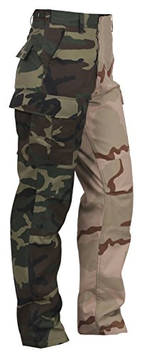 (Rothco Two-Tone Camo BDU Pants, Woodland/Tri-Color Camo, M)
