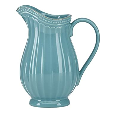 Lenox French Perle Groove Pitcher, Mini, Bluebell