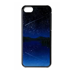 Shooting Star Sky iPhone 5c Cell Phone Case Black Exquisite gift (SA_534645)