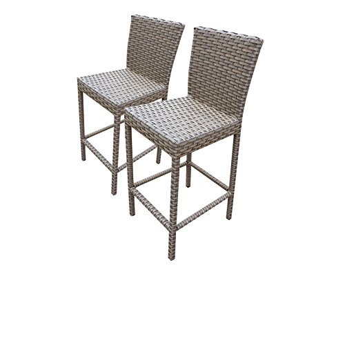TK Classics Oasis 2 Piece Barstools Back, Grey Stone Review
