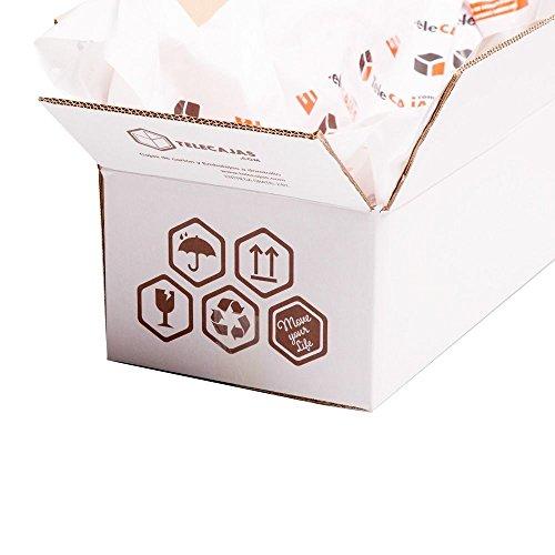 Lote de 10 Cajas. Cartón Reforzado Doble | TeleCajas.com: Amazon.es: Oficina y papelería