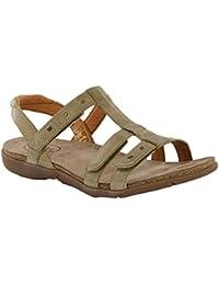 Women's Enchanted T Strap Sandal,Stone Leather,EU 39 M