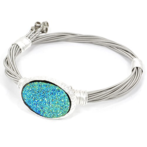 Paradise Drusy Guitar String Bracelet (7 Inches)