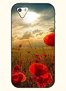 OOFIT Phone Case design with Poppy Flowers under the Sun for Apple iPhone 4 4s 4g