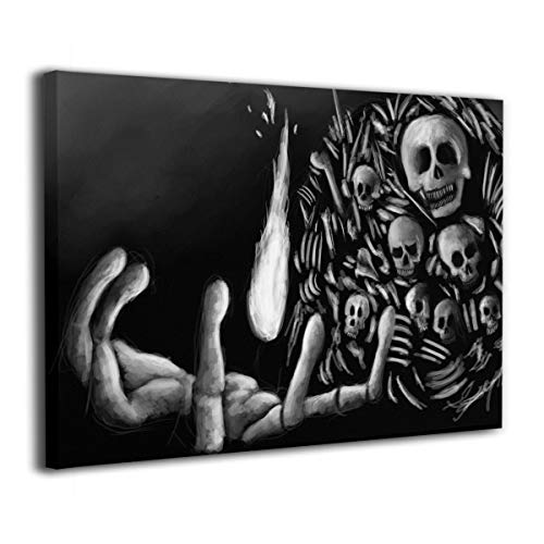 Achujuyou Modern Wall Art On Canvas Skull Bones Skeleton Fingers Frameless Artwork Bedroom Living Room Decorative Painting Modern Gallery 16