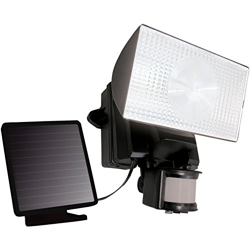MAXSA Solar-Powered LED Security Floodlight, Motion-Activated Outdoor Light with 50 LEDs, Black (Diy Security Light)