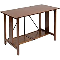 Calico Designs 50250 Madera Folding Desk with Wood Top, Walnut/Black