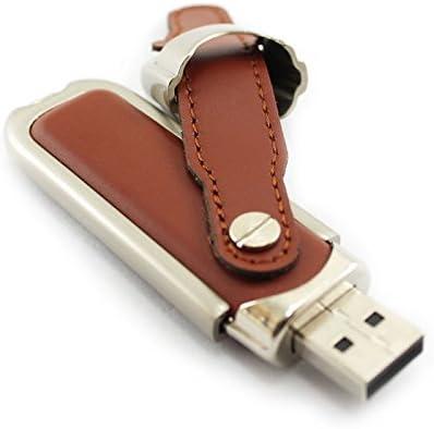 2gb Thumb Stick Leather Usb Flash Drive Brown Computer Zubehör