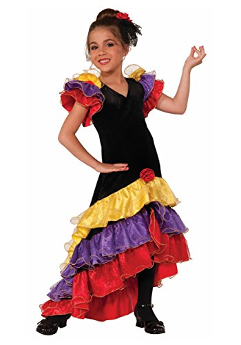 Forum Novelties Flamenco Dancer Costume, Small (Girls Spanish Flamenco Dancer Costume)