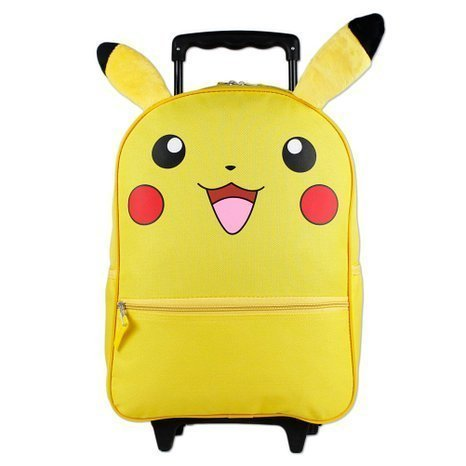 Full size Pokemon Pikachu Wheeled Rolling Backpack