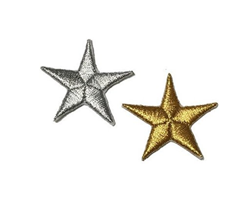 Melie Bianco Applique - Melie Bianco Metallic Stars Embroidered Patch Sticker Applique