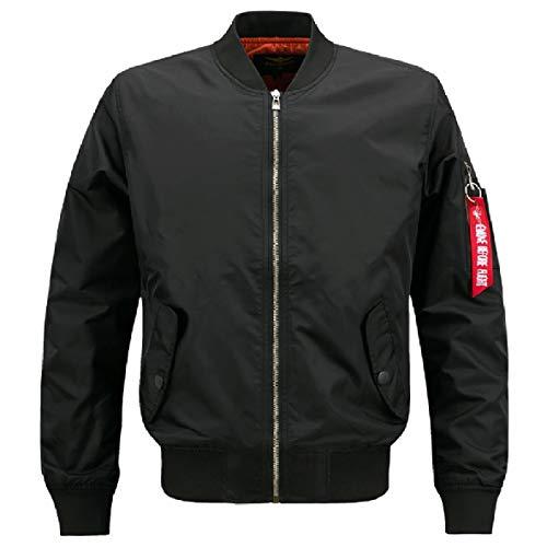 Bomber Nero Coreana Svago Xinheo Alla Outwear size Solido Uomini Plus Colletto vXgPxq