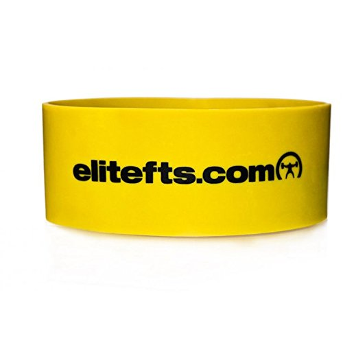 """EliteFTS Pro Short Heavy Resistance Band - Yellow - 3.25"""" Wi"""