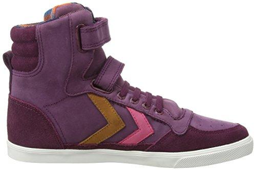 Hummel HUMMEL SL STADIL JR OILED HI - zapatillas deportivas altas de piel niña rojo - Rot (Grape Wine 3506)