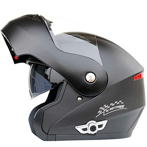 MOPHOTO Bluetooth Integrated Motorcycle Helmets, Anti-Fog Full Face Flip up Dual Visors Bike Helmet Motorcross Helmets Intercom w/Microphone, MP3, GPS (Integrated Intercom)