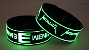 EMINEM and METALLICA E7M2 Glow in the Dark Bracelet Wristband