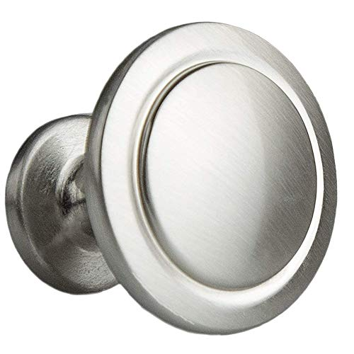 (Satin Nickel Kitchen Cabinet Knobs - 1 1/4 Inch Round Drawer Handles - 25 Pack of Kitchen Cabinet Hardware)