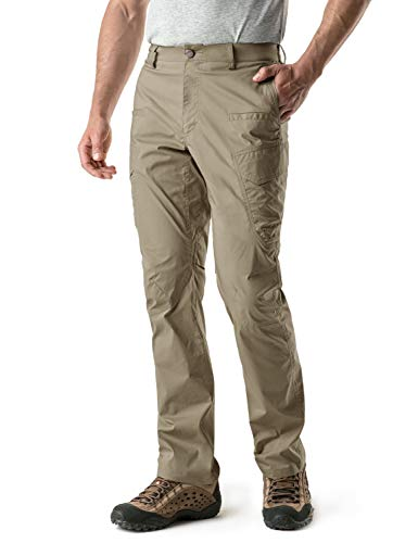 Price comparison product image CQR CQ-TXP401-TAN_32W / 32L Men's Outdoor Adventure Rugged Pants Hiking Camping Stretch Durable UPF 50+ Quick Dry Cargo Trousers TXP401