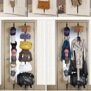 Aufbewahrung Kleidung xenia 2 gap rack über der tür kleiderbügel geldbörse kleidung hat