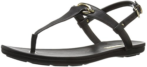 Aldo Women's Gaella_u Flat Sandal, Black Synthetic, 8.5 B US