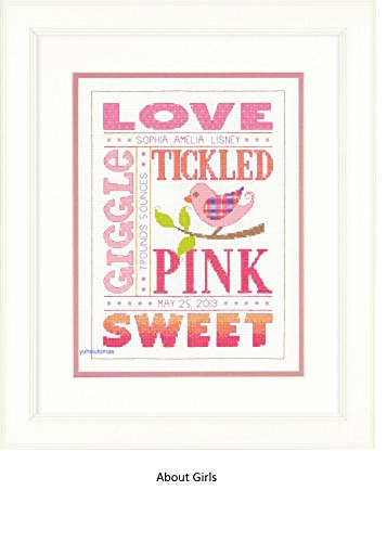 (Dimensions Crafts Birth Record Counted Cross Stitch, About Girls)