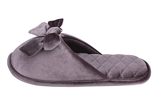 Slip Slippers Warm Indoor on Skid Bedroom Cotton Footwear Soft Champagne Purple Greenery Home Clog Bootie Womens Shoes Anti Mule Scuff pnqwAtEC