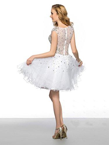 Vimans -  Vestito  - linea ad a - Donna bianco 46