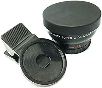 VRfamily Mobile phone lens super wide-angle macro lenses black