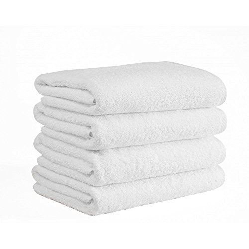 Extra Large Bath Towel Set of 4 100% Cotton Turkish Towels Premium Hotel Spa Quality, Soft Absorbent Oversized and Heavy Bath Sheet, 950 Grams - 39 Ounces (Large 40 87 Inch) Pack 4, (White) (Best Bath Towels Australia)