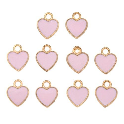 10Pcs Enamel Heart Moon Cat Slipper Eiffel Charm Pendants DIY Jewelry Accessory