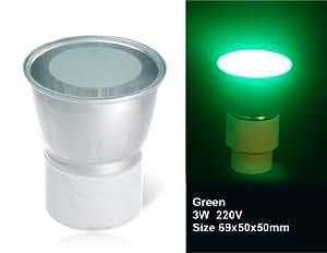 3W GU5.3 18 x 3528 LED Green LED Spotlight