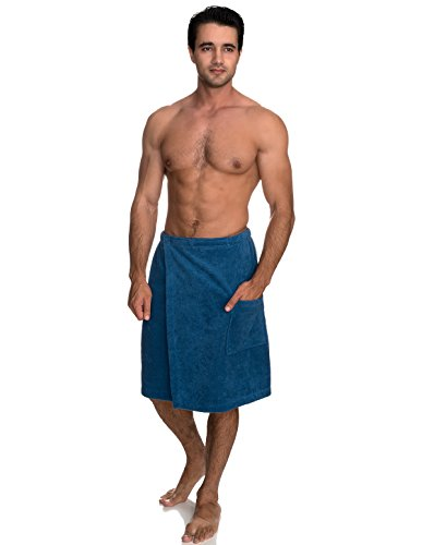 - TowelSelections Men's Wrap, Shower & Bath, Terry Spa Towel Large/X-Large Deep Water