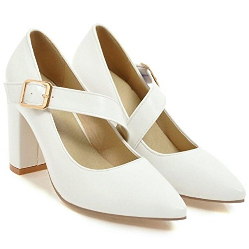 Coolcept Zapatos Puntiagudos Para Mujer White-1