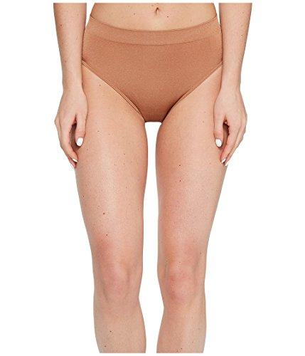 Spandex Brief High Cut Panty (Wacoal Women's B-Smooth Hi-Cut Brief Panty, Pecan, L)
