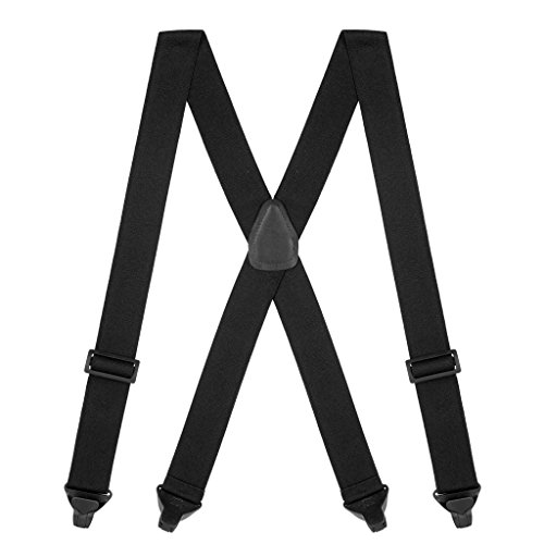 Suspender Store Mens Black AIRPORT FRIENDLY Suspenders - BuzzNot - Men For Store