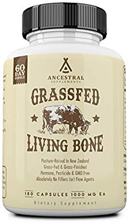 Ancestral Supplements Grass Fed Living Bone — Supports Bone Strength, Flexibility, and Remineralization (60 Day Supply)