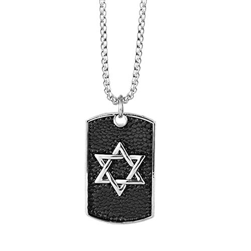 Shield 5/8' Jewelry Pendant - Men Pendant Necklace Personality Titanium Steel Vintage Shield Shape Pendant Necklace Fashion Six Manstars Pattern Shield Pendant Jewelry