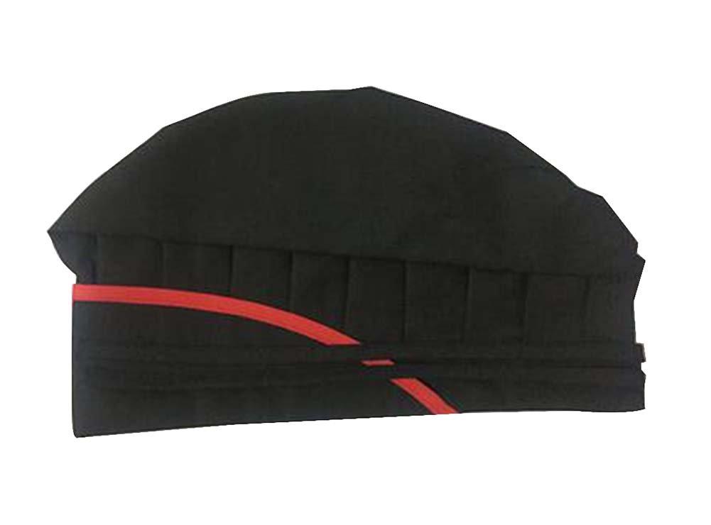 Black Temptation Chef Hat Cafeteria Hat Baking Work Cap Kitchen Smoke-proof Hood