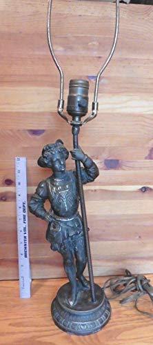 - Genric Antique Spelter Male Baroque figural Lamp Man Renaissance Cavalier Musketeer
