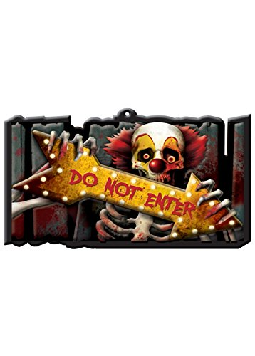 Halloween Creepy Carnival Sign Cutout Decoration