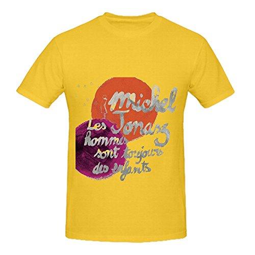 michel-jonasz-les-hommes-sont-toujours-des-enfants-funk-men-crew-neck-design-tee-yellow