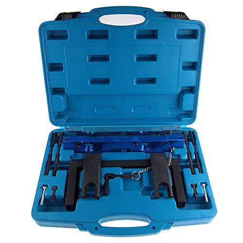 ECCPP Engine Camshaft Alignment Locking Timing Tool Set Come with TDC Locking Pin VANOS Alignment Plates fit for BMW N51 N52 N53 N54 D0130 (Locking Plate Camshaft)