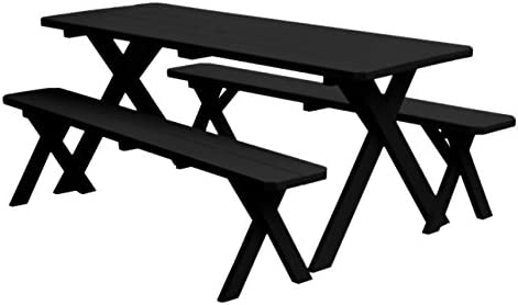 Surprising Amazon Com Al Furniture Cross Leg Wooden Picnic Table Beatyapartments Chair Design Images Beatyapartmentscom